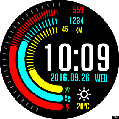 05 Thor5 Android Watch Face