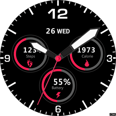 08 Thor 5 Android Watch Face