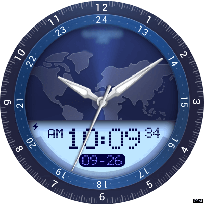 262 Time Zone Android Watch Face
