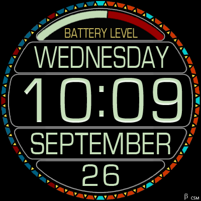 376S_green Android Watch Face
