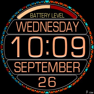 376S_orange Android Watch Face