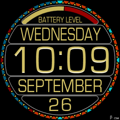 376S_yellow Android Watch Face
