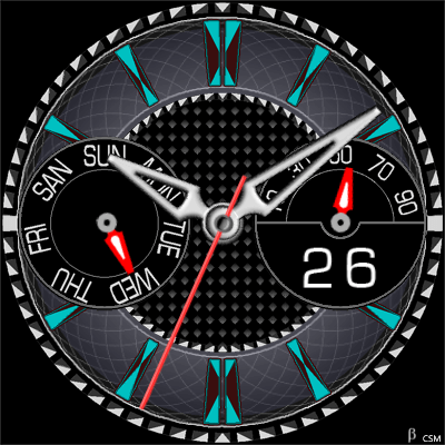 384S Android Watch Face