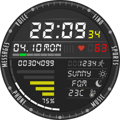 AMAZFIT VERGE 3 Android Watch Face