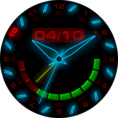 Analog Glow Android Watch Face
