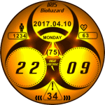 Biohazard Clock Face