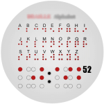 Braille Alphabet Watch Face