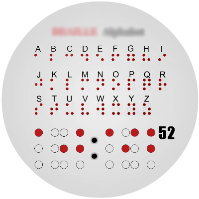 Braille Alphabet Android Watch Face