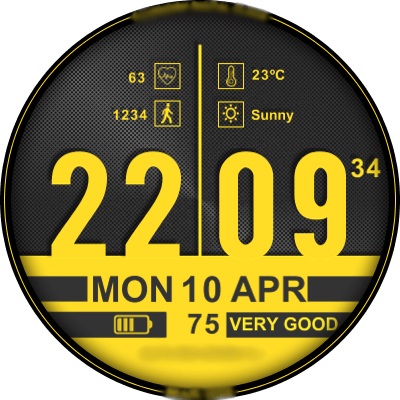 CAVENDISH BIG DIGITAL Android Watch Face