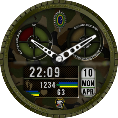 CAVENDISH BRAZILIAN SPECIAL FORCES Android Watch Face