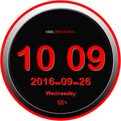 CWF Digital Android Watch Face