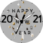 CWF Happy New Year 2021 Clock Face