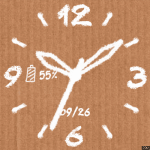 Cardboard Chalk Watch Face