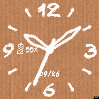 Cardboard Chalk Android Watch Face