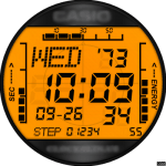Casio ORANGE Watch Face