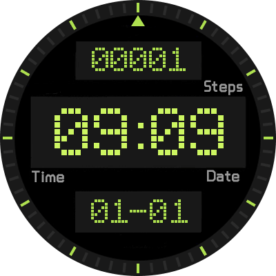 Clock Skin P6 Android Watch Face