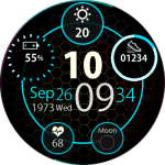 Clock Skin RR0081 Blue V2 Watch Face