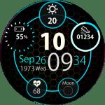 Clock Skin RR0081 Blue V2 Watch Face