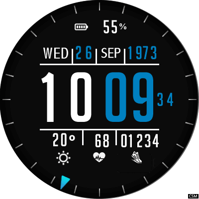 Clock Skin RR018 Android Watch Face