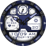 Clock Skin RR022 Blue Watch Face