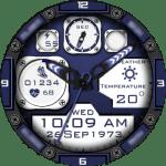 Clock Skin RR022 Blue Watch Face