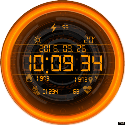 Clock Skin RR023 Android Watch Face
