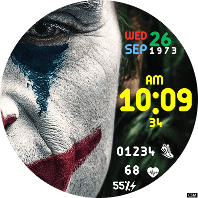Clock Skin RR036 (JOKER) Android Watch Face