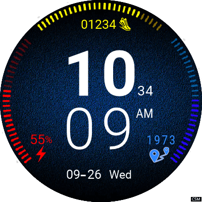 Clock Skin RR042 Android Watch Face