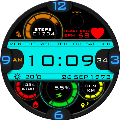 Clock Skin RR043 Android Watch Face