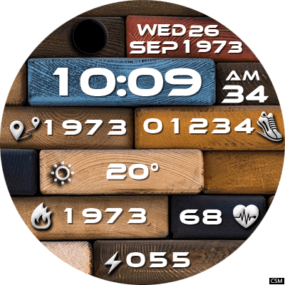 Clock Skin RR044 Android Watch Face