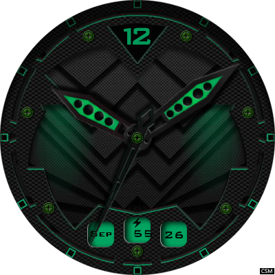 Clock Skin RR048 Android Watch Face