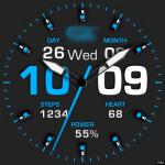 Clock Skin RR050 Blue