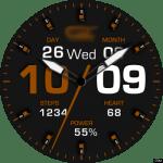 Clock Skin RR050 Brown