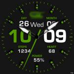 Clock Skin RR050 Green