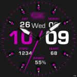 Clock Skin RR050 Pink