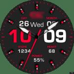 Clock Skin RR050 Red