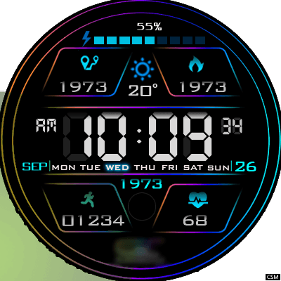 Clock Skin RR051 Android Watch Face