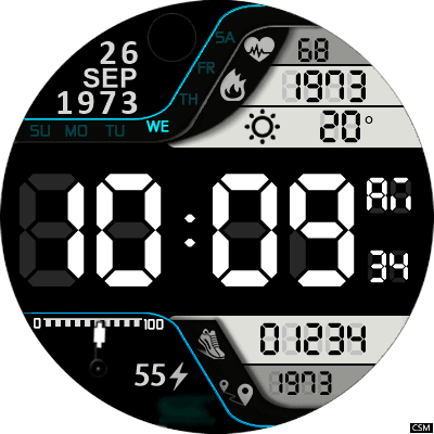 Clock Skin RR053 Android Watch Face