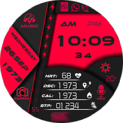 Clock Skin DIGI World Android Watch Face
