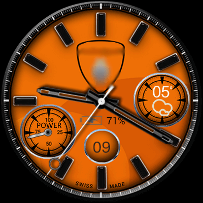Clock Skin Andro Speed Android Watch Face