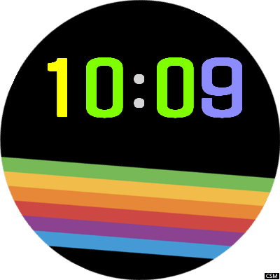 Color 01 Android Watch Face