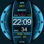 Concept UI Sci-Fi Watch Face