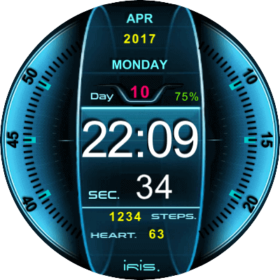 Concept UI Sci-Fi Android Watch Face