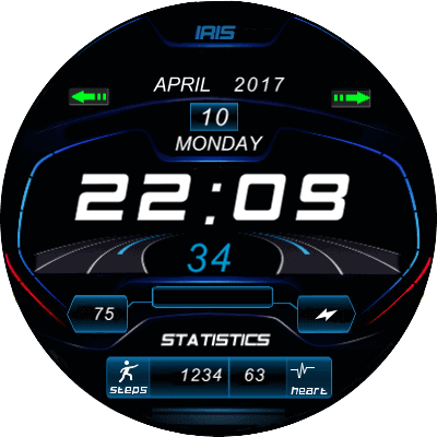 DB UI Eng Android Watch Face