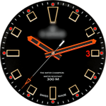 Edox Black VXP Watch Face