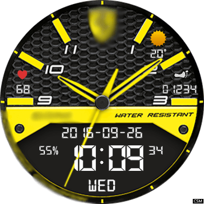 Ferrari YArpNB Android Watch Face