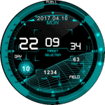 Fighterplane interface v.Eng Watch Face