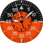 Fortis Fl Cockpit LE Watch Face