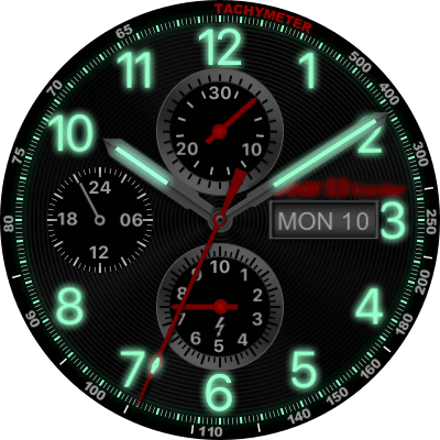 Gear S3 Frontier Night Mode Android Watch Face