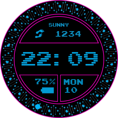 Gif P Pink Android Watch Face